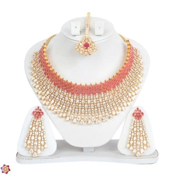 Golden and Red Bronze Jewellery Set