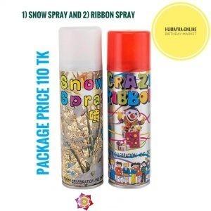 Snow Spray & Ribbon Spray