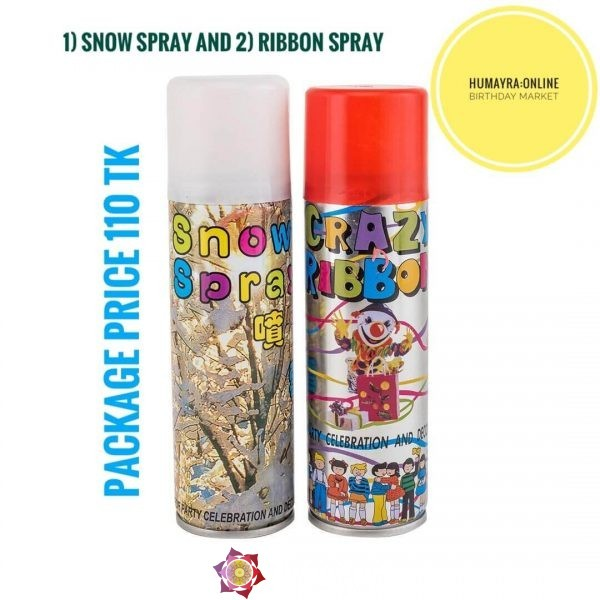 Snow Spray & Ribbon Spray