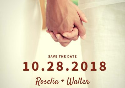 Holding Hands Save The Date Invitation