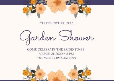 Violet Garden Bridal Shower Invitation