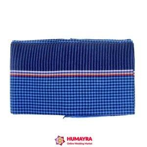 মনিপুরি গামছা-নীল-রঙ