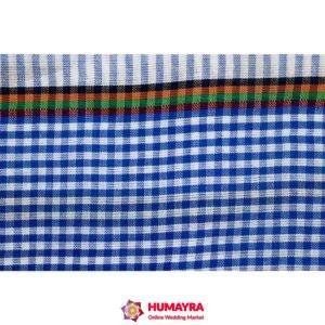 মনিপুরি গামছা-নীল-সাদা